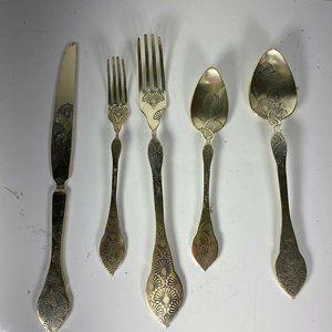 Anthropologie Inlay Metal Utensil Set New